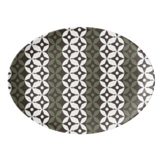 Modern Geo Pattern 840 Porcelain Serving Platter