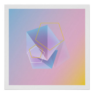 Modern Geometric Abstract Art Poster