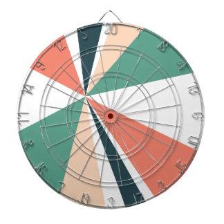 Modern Geometric Art Retro Color Burst Dartboard