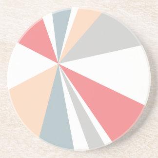 Modern Geometric Art Retro Color Burst Drink Coaster