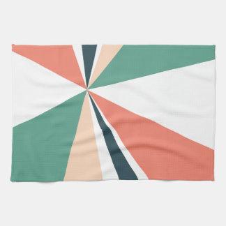 Modern Geometric Art Retro Color Burst Hand Towel