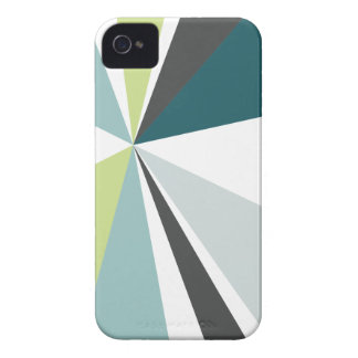 Modern Geometric Art Retro Color Burst iPhone 4 Case