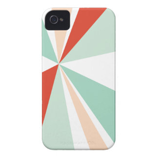 Modern Geometric Art Retro Color Burst iPhone 4 Case-Mate Cases