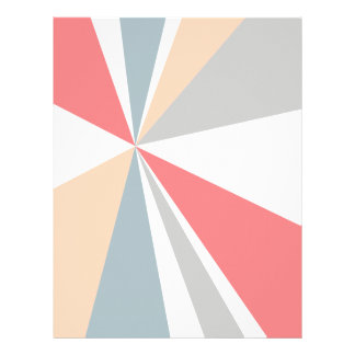 Modern Geometric Art Retro Color Burst Letterhead