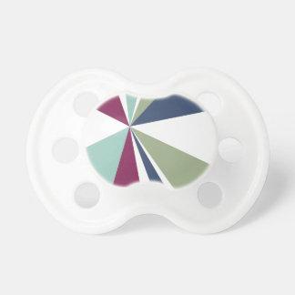 Modern Geometric Art Retro Color Burst Pacifiers