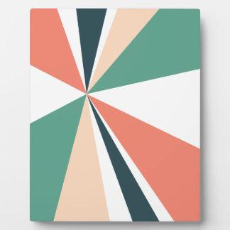 Modern Geometric Art Retro Color Burst Plaque