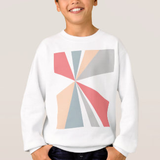 Modern Geometric Art Retro Color Burst Sweatshirt