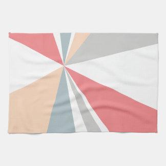 Modern Geometric Art Retro Color Burst Towels