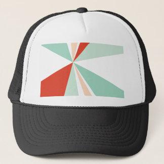 Modern Geometric Art Retro Color Burst Trucker Hat