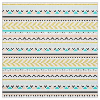 Modern Geometric Aztec Tribal Inspired Pattern Fabric