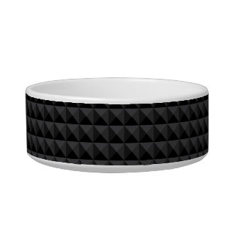 Modern Geometric Black Square Pattern Bowl