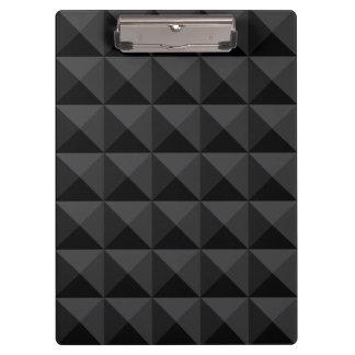 Modern Geometric Black Square Pattern Clipboard