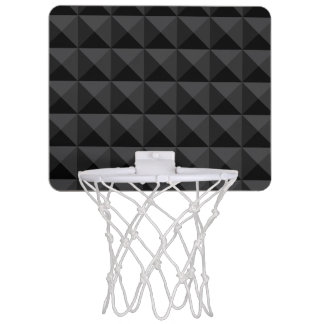 Modern Geometric Black Square Pattern Mini Basketball Hoop