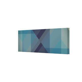 Modern Geometric blocks, designer art canvas print