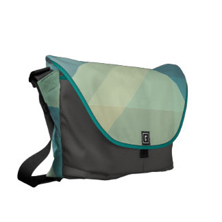 Modern Geometric blocks messenger bag, purse Courier Bag