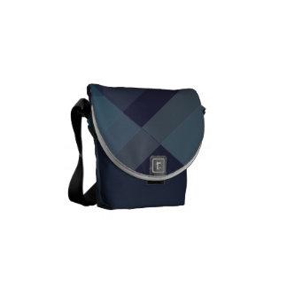 Modern Geometric blocks messenger bag, purse mini Messenger Bag