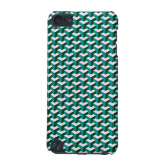 Modern Geometric Blue Blocks Pattern iPod Touch (5th Generation) Cover