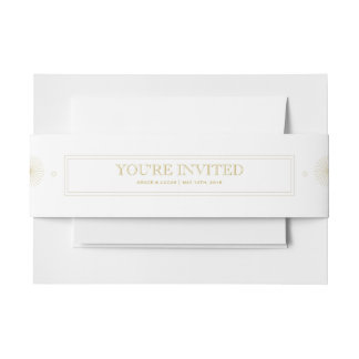 Modern Geometric Burst Belly Band Invitation Belly Band