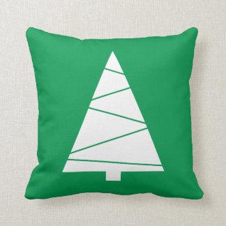 Modern Geometric Christmas Tree Holiday Custom Throw Pillow