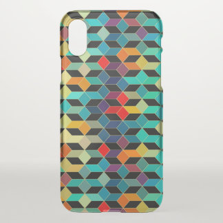 Modern Geometric Colorful Cubes Pattern iPhone X Case
