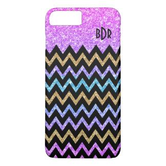 Modern Geometric Colorful Glitter Texture Chevron iPhone 8 Plus/7 Plus Case