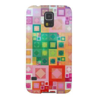 Modern Geometric Colorful Squares Galaxy S5 Case