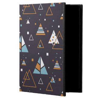 Modern Geometric Colorful Triangles Pattern 4 iPad Air Case