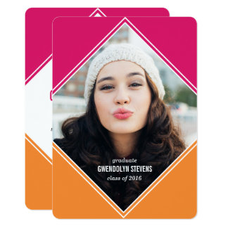Modern Geometric Colour Block Graduation Card