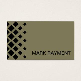Modern geometric design business card