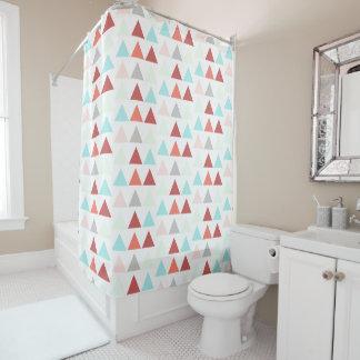 Modern Geometric Design in Aqua Rose Salmon Gray