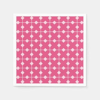 Modern Geometric, Diamonds - Strawberry pink Napkin