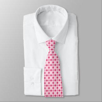Modern Geometric, Diamonds - Strawberry pink Tie