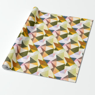 Modern Geometric Earth Tone Pyramids Wrapping Paper