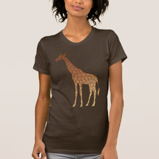 Modern Geometric Giraffe, Copper and Brown T-Shirt