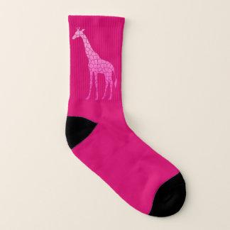 Modern Geometric Giraffe, Fuchsia and Light Pink 1