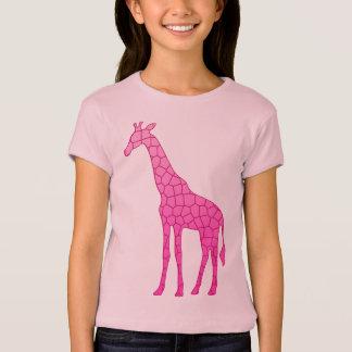 Modern Geometric Giraffe, Fuchsia and Light Pink T-Shirt