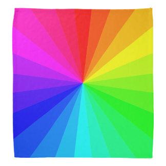 Modern Geometric Gradient Rainbow Pattern Bandana