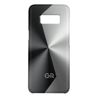 Modern Geometric Metallic Black & Silver Case-Mate Samsung Galaxy S8 Case