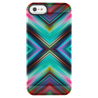Modern Geometric Mirrored Colorful Triangles Clear iPhone SE/5/5s Case