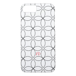 Modern Geometric Monogram Custom iPhone 7 Case