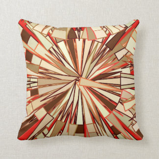 Modern Geometric Mosaic, Brown and Beige Throw Pillow