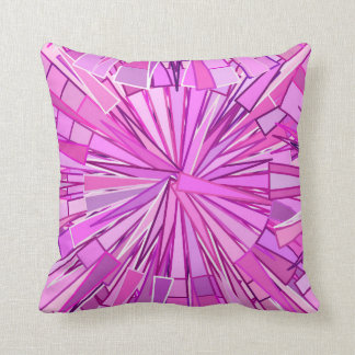 Modern Geometric Mosaic, Violet and Orchid Throw Pillow
