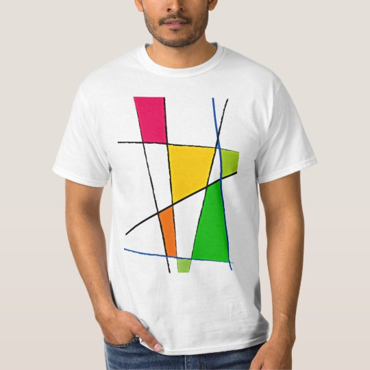 Modern Geometric Pattern Bright Colours T-Shirt