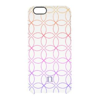 Modern Geometric Pattern Clear iPhone 6/6s Case