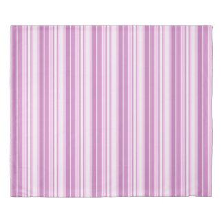 Modern Geometric Pattern Orchid Stripes Duvet Cover