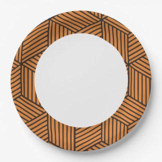 Modern Geometric Pattern. Paper Plate