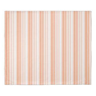 Modern Geometric Pattern Tangerine Stripes Duvet Cover
