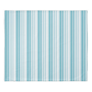 Modern Geometric Pattern Turquoise Stripes Duvet Cover