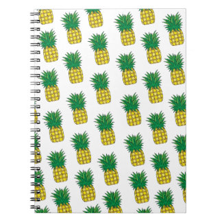 Modern Geometric Pineapple Pattern Notebook