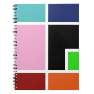 Modern geometric print notebook